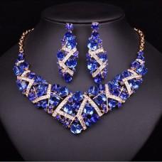 Luxusný Modrý Set Swarovski Maynice SE23 Nova Moda Swarovski Elements