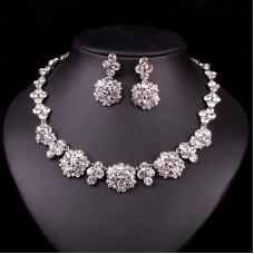 Biely Swarovski náhrdelník Dubai SW48 Nova Moda Swarovski Elements