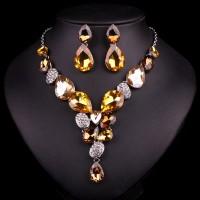 Žltý Náhrdelník a Náušnice Fiona Swarovski Elements SW01