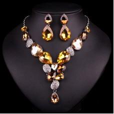 Žltý náhrdelník Fiona Swarovski Elements SW01 Nova Moda Swarovski Elements