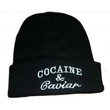 Čiapka s nápisom Cocaine & Caviar Nova Moda