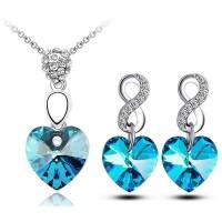 Modrý Zirkónový Set Srdcia FMJ K01