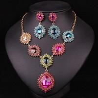 Farebný náhrdelník Swarovski Elements Single R008