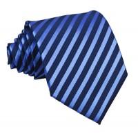 Luxusná kravata Vulcain s pásikavým vzorom Blue