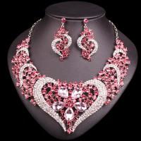 Swarovski Set Ružové Srdce U052
