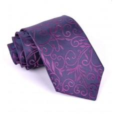 Luxusná kravata Vulcain s kvetinovým vzorom Hugo FMJ KO001 Nova Moda FMJ