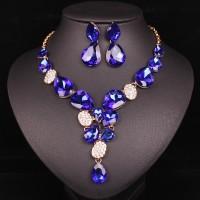 Kráľovská Modrá Náhrdelník a Náušnice Swarovski Elements Set SW2018