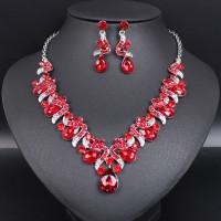 Červený Set Ann Náhrdelník a Náušnice Swarovski Elements SW2020