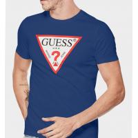 Pánske Modré Navy Tričko Guess Origináls, Veľkosť XL
