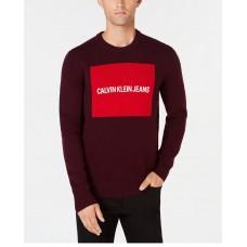 Pánsky Bordový Sveter s Logom Calvin Klein Jeans Veľkosť XXL Nova Moda
