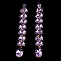 Fialové Náušnice Violet Swarovski Elements