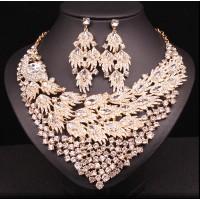 Luxusný Biely Set Náušnice a Náhrdelník Sienna Swarovski Elements 120