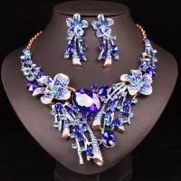 Modrý Náhrdelník a Náušnice Jade Swarovski Elements 110