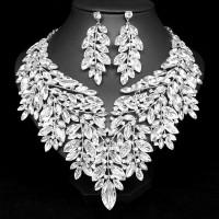 Swarovski Elements Súprava Náhrdelník a Náušnice Luxusný Biely Nancy 12112