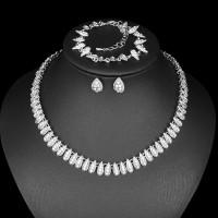 Biely Set Nahrdelník Náušnice a Náramok Swarovski Elements 130