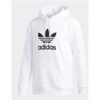 Pánska Biela Adidas Mikina s Kapucňou, Veľkosť 2XL