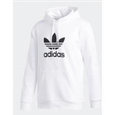 Pánska Biela Adidas Mikina s Kapucňou, Veľkosť 2XL Nova Moda
