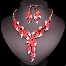 Červený Náhrdelník a Náušnice Yara Swarovski Elements Nova Moda