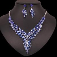 Modrý Náhrdelník a Náušnice Swarovski Elements Lulu