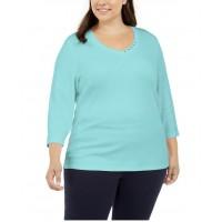 Dámske Aqua Tričko Karen Scott Veľkosť 50