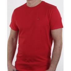 Tommy Hilfiger Pánske Tričko Červené M th124 Nova Moda Tommy Hilfiger