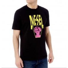 Diesel Pánske Čierne Tričko Neon Statue Logo Veľkosť XL Nova Moda Diesel