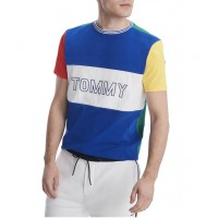 Tommy Hilfiger Pánske Farebné Tričko s Logom Veľkosť L