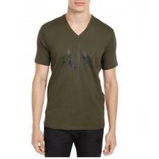 Armani Exchange Pánske Zelené Tričko Veľkosť XXL Nova Moda Armani Exchange