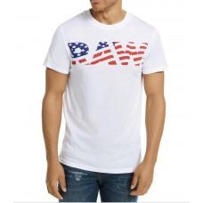 G-Star Raw Pánske Biele Tričko s Logom Vlajka Veľkosť XL Nova Moda