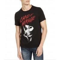 Guess Pánske Čierne Tričko s Grafickou Potlačou Veľkosť XXL