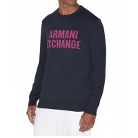 Armani Exchange Pánsky Sveter Navy Veľkosť L