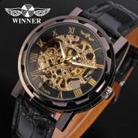 Pánske hodinky Winner Skeleton Gold Deluxe