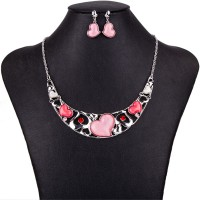 Dámsky Ružový Náhrdelník Heart FMJ P02
