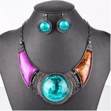 Farebný náhrdelník Golem FMJ 37737 Nova Moda FMJ