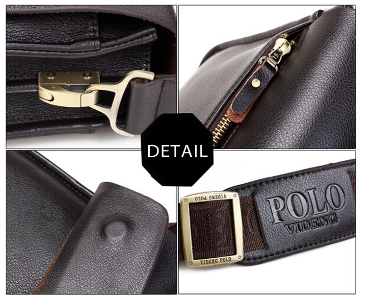 Kúpiť Kožená crossbody taška Polo Brown  45ad7bcf99c