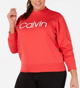 Dámska Mikina Calvin Klein Orange , Veľkosť 48-50