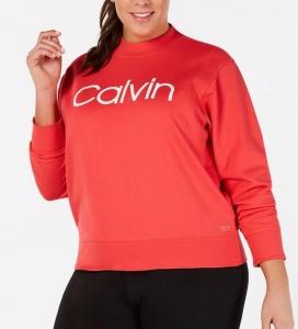 Dámska Mikina Calvin Klein Orange , Veľkosť 52-54