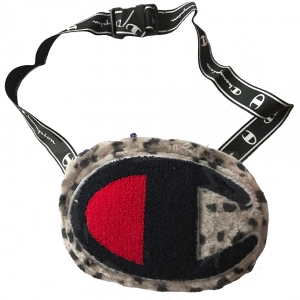 Unisex Champion Sivá Leopard Print Belt Bag Crossbody 5657