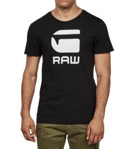 G-Star RAW Pánske Čierne Tričko s Logom Veľkosť XXL