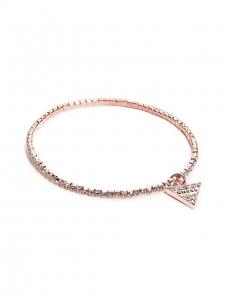 Guess Náramok Pozlátený Pink Triangel G233