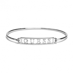 GUESS Náramok Pevný Silver s Logom G260