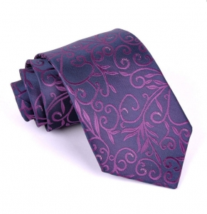 Luxusná kravata Vulcain s kvetinovým vzorom Hugo FMJ KO001