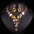 Žltý náhrdelník Fiona Swarovski Elements SW01
