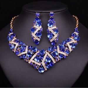 Luxusný Modrý Set Swarovski Maynice SE23